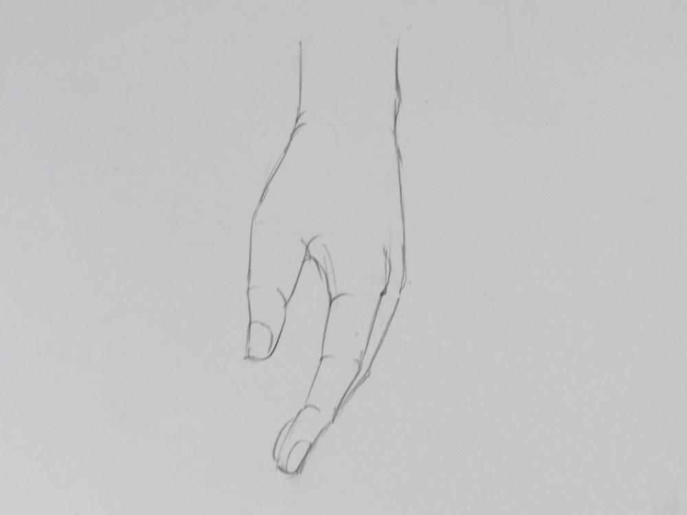降ろした手の描き方 鉛筆 Artlessons アートレッスン